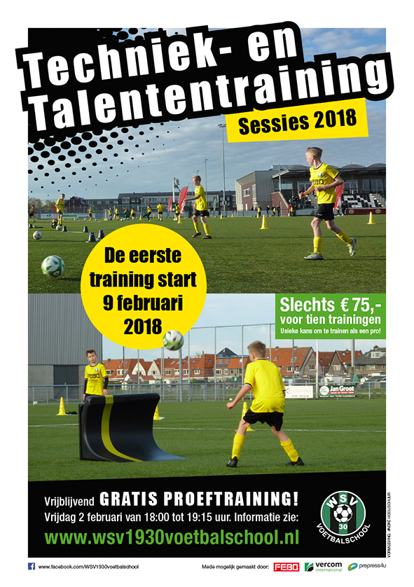 flyer techniek talenten training 2018